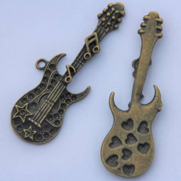 Charms - El-gitar - Bronse - 3 stk