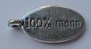 Bilde av Charms - Tekst - Oval - 100% Mann - 8 stk
