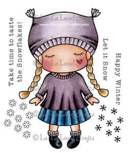 Bilde av La-La Land Crafts - Stamp 5231 - PAPER DOLL MARCI WINTER