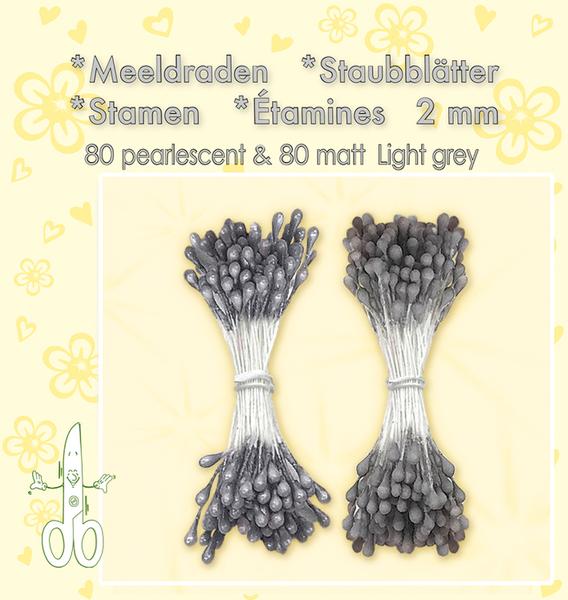 Leane Creatief - Stamen - 80 matt & 80 pearl - Light Grey