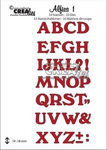 Bilde av Crealies - Dies - Alfies 1 - Capital letters