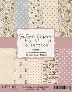 Bilde av Reprint - 6x6 - RPP047 - Vintage Sewing Collection pack