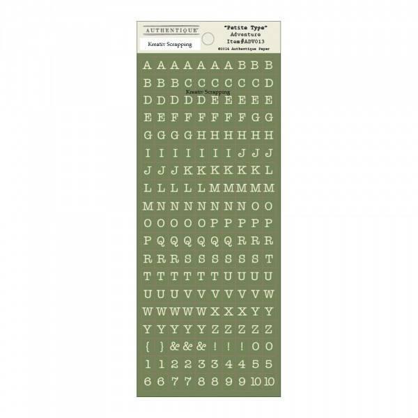 Authentique - Stickers - Petite Type Alpha - ADV013 - ADVENTURE