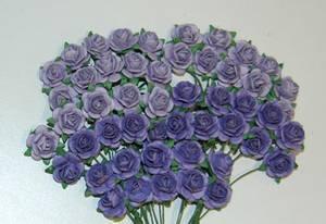 Bilde av Papirdesign - Roser - 1,2cm - Lys lilla