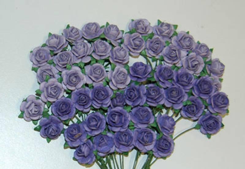 Papirdesign - Roser - 1,2cm - Lys lilla
