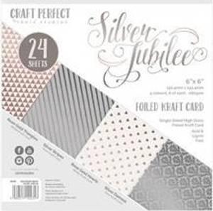 Bilde av Craft Perfect - 6x6 Pack - 9435 - Foiled Kraft - Silver Jubilee