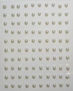 Bilde av Kort & Godt - Stickers perler halve 5mm natur - 0190