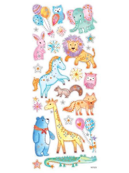 Klistremerker - 0513 - Glitter - Ville dyr