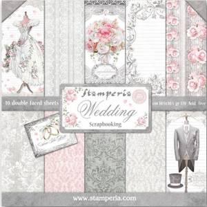 Bilde av Stamperia - 12x12 Paper Pack - 18 - Wedding
