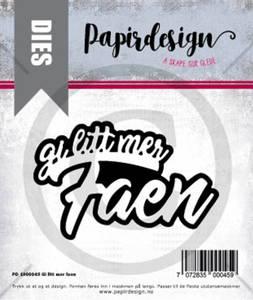 Bilde av Papirdesign Dies PD1900045 - Gi mer faen