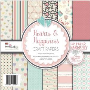 Bilde av Polkadoodles - 6x6 Paper Pack - Hearts & Happiness