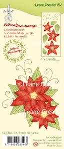 Bilde av Leane Creatief - 55.5466 - Stamp - 3D Flower Poinsettia