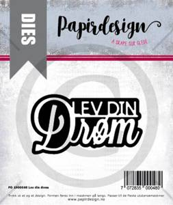 Bilde av Papirdesign Dies PD1900048 - Lev din drøm
