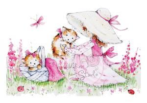 Bilde av Wild Rose Studio - CL217 - Annabelles Meadow - Kitty