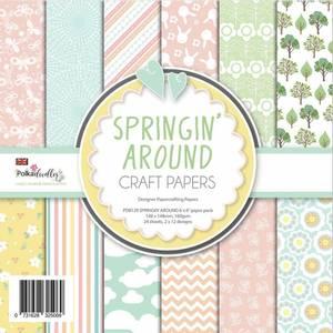 Bilde av Polkadoodles - 6x6 Paper Pack - Springin' Around