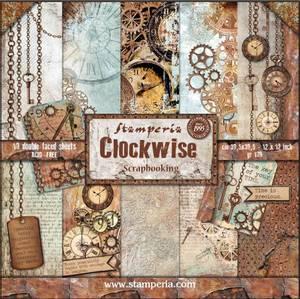 Bilde av Stamperia - 12x12 Paper Pack - 39 - Clockwise