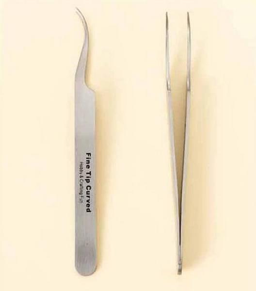 Hobby & Crafting Fun - Tweezers - Fine Tip Curved - 12 cm