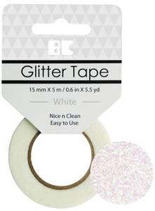 Bilde av BC - Glitter Tape - 15mm x 5m - 010 - White