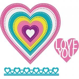 Bilde av Sizzix - Framelits - 662730 - Dotted Hearts