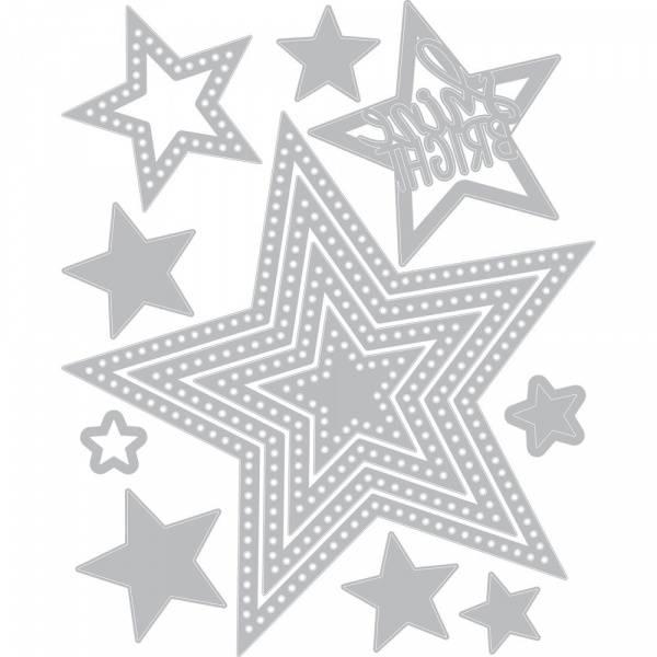 Sizzix - Framelits - 662731 - Dotted Stars