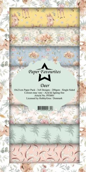 Paper Favourites - SlimLine Paper Pad - PFS001 - Deer