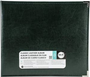 Bilde av We R - 660910 - Leather D-Ring Album - 12x12 - Black