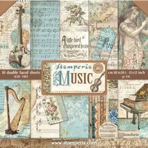 Bilde av Stamperia - 12x12 Paper Pack - 48 - Music