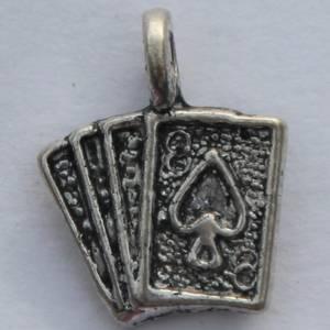 Bilde av Charms - Cards - Sølv - 8 stk