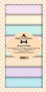 Bilde av Paper Favourites - SlimLine Paper Pad - PFS003 - Pastel Stribe