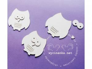 Bilde av Wycinanka - Chipboard - Ugler - 3 stk