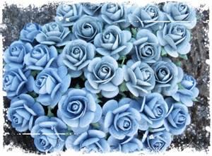 Bilde av Papirdesign - Roser - 1,8cm - Vintage blå