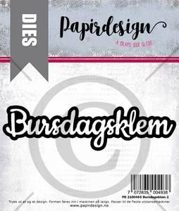 Bilde av Papirdesign Dies PD2100493 - Bursdagsklem 2