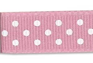 Bilde av Din fantasi - Bånd - 10mm - Prikker - 43 - Lys rosa - 10 meter