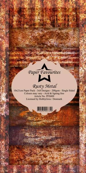 Paper Favourites - SlimLine Paper Pad - PFS009 - Rusty Metal