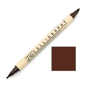 Bilde av Zig - Memory System - Calligraphy Dual-Tip Marker - Chocolate