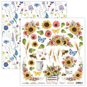 Bilde av ScrapBoys - Sunny Village - 12x12 - SUVI-07 Die Cut Sheet