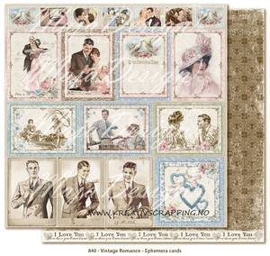 Bilde av MAJA DESIGN - VINTAGE ROMANCE 840 - EPHEMERA CARDS