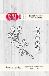 Bilde av Craft & You - Dies - CW056 - Rowan Twig