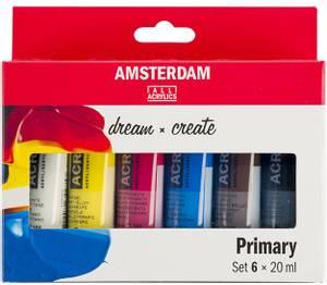 Bilde av Amsterdam - Acrylic Standard - 20ml - Sett  6 ass Primær