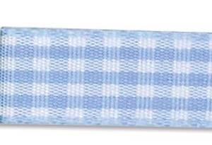 Bilde av Din fantasi - Bånd - 10mm - Rutet - 25 - Lys blå - 10 meter