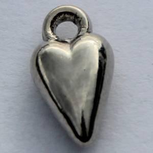 Bilde av Charms - Hjerte - 3D - Mini - Sølv - 12 stk