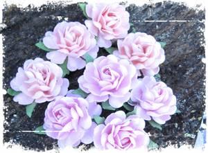 Bilde av Papirdesign - Roser - 3,2cm - Rosa