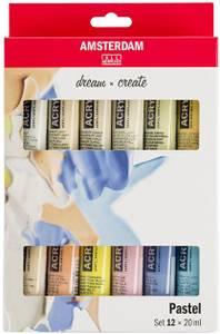 Bilde av Amsterdam - Acrylic Standard - 20ml - Sett 12 ass Pastell