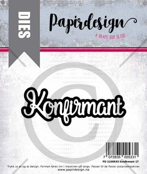 Papirdesign Dies PD2100533 - Konfirmant 17