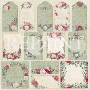 Bilde av Reprint - 12x12 - RP0403 - Christmas Bouquet -Tags