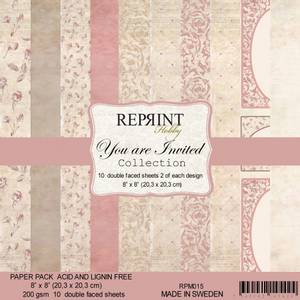 Bilde av Reprint - 8x8 - RPM015 - Your are invited Collection pack