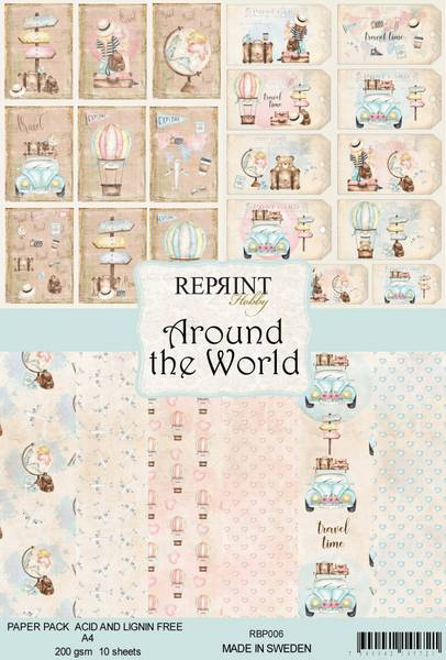 Reprint -  A4 - RBP006 - Around the World Collection Pack A4