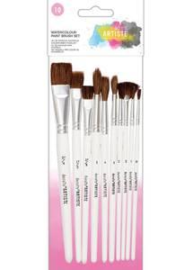Bilde av Docrafts - Watercolour Paint Brush Set - 10pk