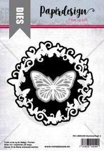 Bilde av Papirdesign Dies PD1900249 - Sommerfugl 2 ramme