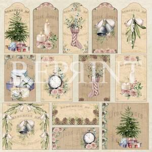 Bilde av Reprint - 12x12 - RP0408 - Christmas Holiday - Tags